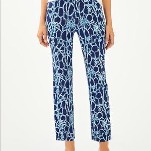 Lilly Pulitzer XXS Loralee Pant Lucky Bamboo
